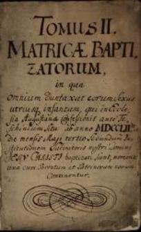 Księga chrztów Parafii Ewangelicko-Augsburskiej w Cieszynie, T. 2, 1752 - 1781, sygn. 1049
