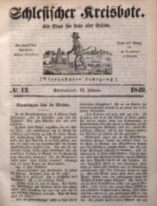 Schlesischer Kreisbote, 1849, Jg. 14, No. 12