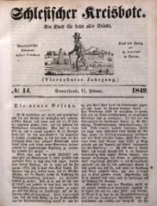 Schlesischer Kreisbote, 1849, Jg. 14, No. 14