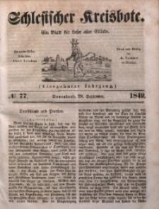 Schlesischer Kreisbote, 1849, Jg. 14, No. 77