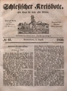 Schlesischer Kreisbote, 1850, Jg. 16, No. 61