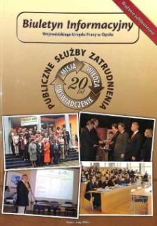 Biuletyn Informacyjny Wojewódzkiego Urzędu Pracy w Opolu 2010. Wydanie jubileuszowe.
