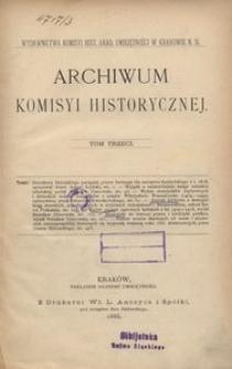 Archiwum Komisyi Historycznej, T. 3