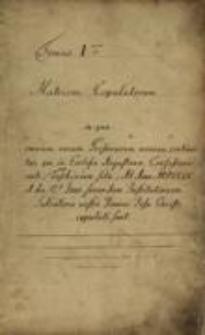 Księga ślubów Parafii Ewangelicko-Augsburskiej w Cieszynie, T. 1, 1709-1798, sygn. 1067