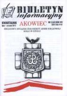 """Biuletyn Informacyjny """"Akowiec"""". R. 16, nr 3 (62)."""