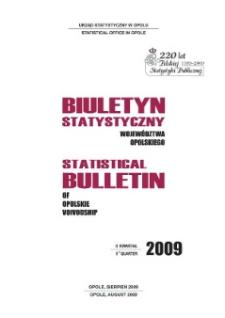 Biuletyn Statystyczny Województwa Opolskiego = Statistical Bulletin of Opolskie Voivodship 2009, II kwartał.