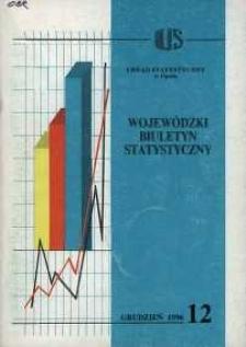 Wojewódzki Biuletyn Statystyczny 1996, nr 12.