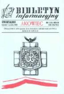 """Biuletyn Informacyjny """"Akowiec"""". R. 11, nr 2 (41)."""