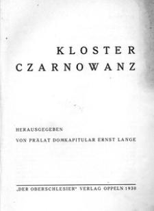 Kloster Czarnowanz / hrsg. von Ernst Lange.