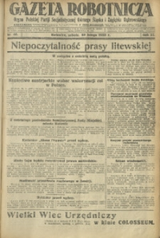 Gazeta Robotnicza, 1928, R. 33, nr 46