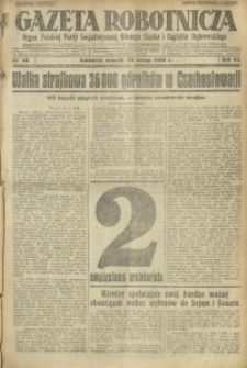 Gazeta Robotnicza, 1928, R. 33, nr 48