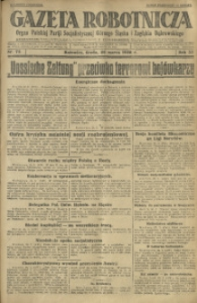 Gazeta Robotnicza, 1928, R. 33, nr 73