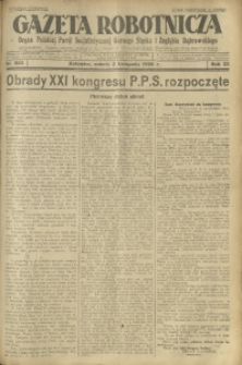 Gazeta Robotnicza, 1928, R. 33, nr 253