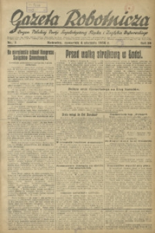 Gazeta Robotnicza, 1934, R. 39, nr 1