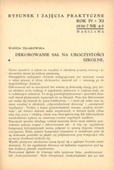 Rysunek i Zajęcia Praktyczne : Organ Komisji Zajęć Praktycznych i Rysunku Wydziału Pedagogicznego Z.N.P. 1936-1937, R.11(4), nr 4-5