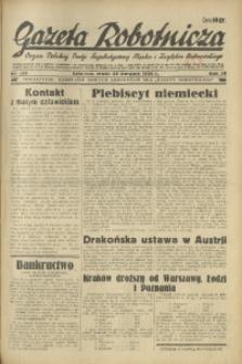 Gazeta Robotnicza, 1934, R. 39, nr 133