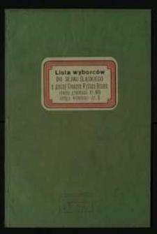 Wybory do Sejmu Śląskiego 1930 r. – lista wyborców z gminy Cieszyn, obwodu głosowania nr 60, okręgu wyborczego nr 1