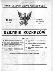 Dziennik Rozkazów, 1925, R. 8, nr 28