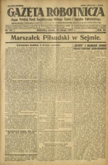 Gazeta Robotnicza, 1927, R. 32, nr 37