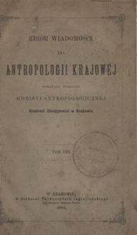 Zbiór Wiadomości do Antropologii Krajowej, T. 8