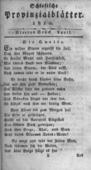 Schlesische Provinzialblätter, 1810, 51. Bd., 4. St.: April