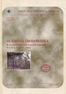 Ochrona środowiska w województwie dolnośląskim w latach 2003-2004
