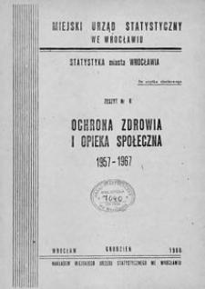 Ochrona zdrowia i pomoc społeczna 1957-1967