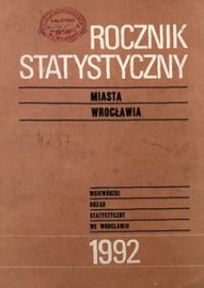 Rocznik Statystyczny miasta Wrocławia, 1992, R. 2