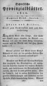 Schlesische Provinzialblätter, 1810, 51. Bd., 6. St.: Juny