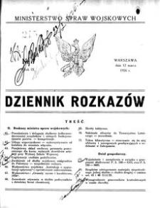 Dziennik Rozkazów, 1926, R. 9, nr 7