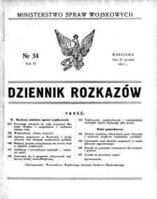 Dziennik Rozkazów, 1926, R. 9, nr 34
