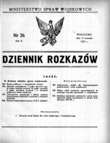 Dziennik Rozkazów, 1927, R. 10, nr 26
