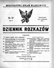 Dziennik Rozkazów, 1927, R. 10, nr 27