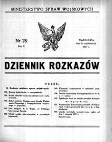 Dziennik Rozkazów, 1927, R. 10, nr 28