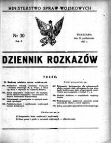 Dziennik Rozkazów, 1927, R. 10, nr 30