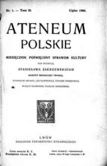 Ateneum Polskie, 1908, T. 3