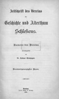 Zeitschrift des Vereins für Geschichte und Alterthum Schlesiens 1895, Bd. 29