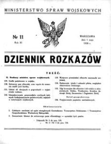 Dziennik Rozkazów, 1928, R. 11, nr 11