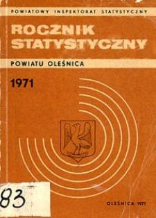 Rocznik Statystyczny Powiatu Oleśnica, 1971, R. 1