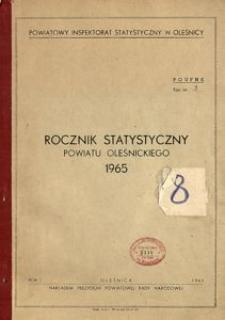 Rocznik Statystyczny Powiatu Oleśnickiego, 1965, R. 1