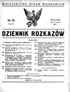 Dziennik Rozkazów, 1928, R. 11, nr 35