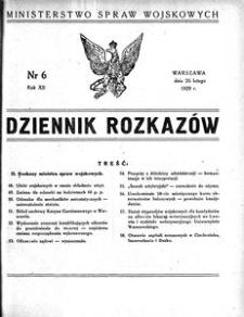 Dziennik Rozkazów, 1929, R. 12, nr 6