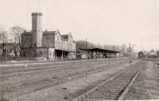 Głubczyce. Dworzec kolejowy, 1981 r.