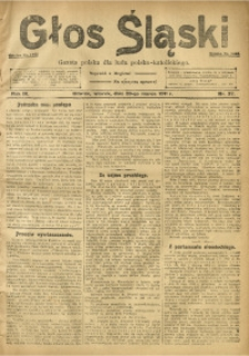 Głos Śląski, 1911, R. 9, nr 37