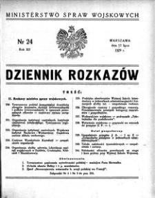 Dziennik Rozkazów, 1929, R. 12, nr 24