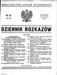 Dziennik Rozkazów, 1930, R. 13, nr 11