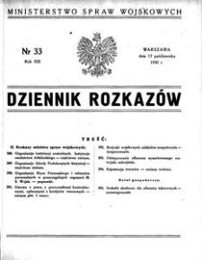 Dziennik Rozkazów, 1930, R. 13, nr 32
