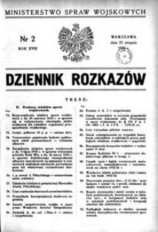 Dziennik Rozkazów, 1935, R. 18, nr 2