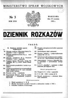 Dziennik Rozkazów, 1935, R. 18, nr 3