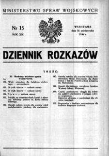 Dziennik Rozkazów, 1936, R. 19, nr 15